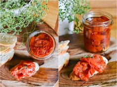 S vášní pro jídlo: Rajčatový konfit Bruschetta, Salsa, Curry, Fresh, Ethnic Recipes, Food, Marketing, Curries, Essen