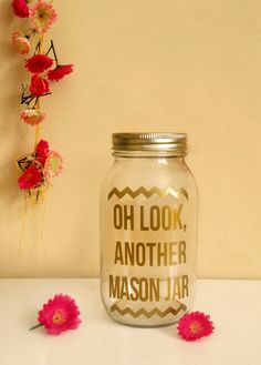 Do you love and hate mason jars? This might be your gift. #masonjar #irony #gold #chevron