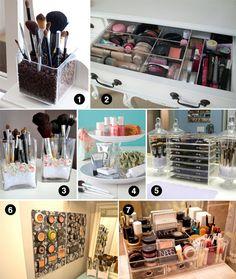 Ιδέες Αποθήκευσης Προϊόντων Μακιγιάζ / Makeup Storage Ideas