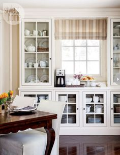 Interior Country Casual Home Farmhouse KitchensCountry KitchensOpen KitchensDining Room CabinetsDining