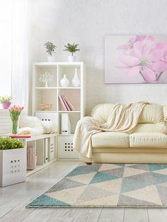 benuta alfombra moderna pastel geomet turquesa x cm marca de calidad gut
