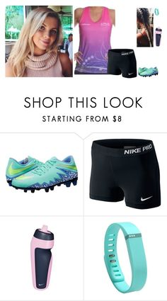 """""""Touch footy gala day"""" by cleo-scott ❤ liked on Polyvore featuring NIKE and Fitbit"""