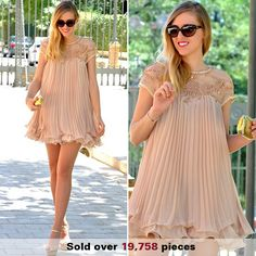 Shop Beads Embellished Pleated Layered Apricot Dolly Dress at victoriaswing, personal womens clothing online store! high quality, cheap and big discount, latest fashional style! Casual Dresses, Short Dresses, Dresses For Work, Satin Dresses, Chiffon Dress, Buy Dress, Dress Up, Boho Fashion, Fashion Dresses