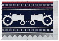 Tractors Moods of Norway knitting chart