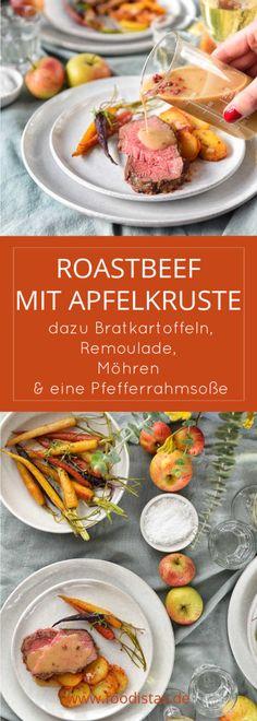 Roastbeef mit Apfelkruste, Remoulade und Bratkartoffeln und Möhren › foodistas.de