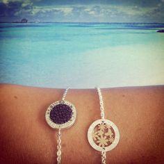 Joy de la Luz silver bracelets