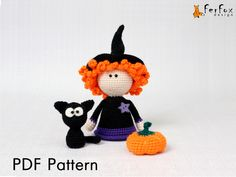 Halloween amigurumi pattern Halloween crochet pattern Crochet DIY tutorial PDF pattern Crochet Witch doll pattern DIY Halloween decor by FerFoxDesign on Etsy https://www.etsy.com/listing/249830340/halloween-amigurumi-pattern-halloween