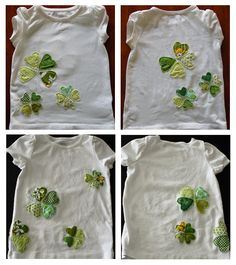 cute shamrock shirt tutorial E&T might need these for Patty's Day T Shirt Tutorial, Learn To Sew, How To Make, Festival Shirts, St Paddys Day, St Pattys, Sewing For Kids, Refashion, Scrappy Quilts