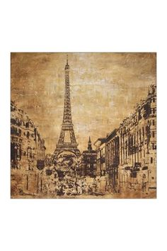 HauteLook   Artists Guild Large Scale Art: La Tour Hand Embellished Gallery Wrapped Canvas Wall Art - 35