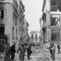 Ruins at Time of Greek Civil War Fighting Photographic Print by Dmitri Kessel at… Greek History, History Education, History Of Photography, Famous Photographers, Life Magazine, Military History, Old Photos, Vintage Photos, Historical Photos