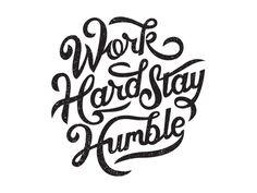 Work Hard Stay Humble rebeccaminkoff.com