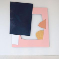 "front-desk: ""Imi Knoebel at Patrick De Brock Gallery (Knokke, Belgium) "" Sculpture Art, Wall Sculptures, Painting Inspiration, Art Inspo, Imi Knoebel, Lampe Applique, Hard Edge Painting, Contemporary Abstract Art, Collage Art"