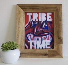 For all you Cleveland Baseball Tribe Time fans out there, this Chief Wahoo print is for you!  PRINT of original artwork on archival matte paper, Cleveland Ohio Chief Wahoo Indians Baseball Tribe Time (Frame NOT Included). Wrapped in plastic, this print will ship sandwiched between sheets of cardboard and in a durable, rigid bubble mailer. Everything in my shop is made in a pet and smoke free apartment, so you can rest assured that your items will arrive in a clean, well cared for condition…