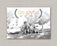 Be Joyful Christmas Card by announcingyou on Etsy, $15.00