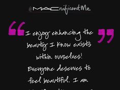 I could win a trip to NYC for a makeover and may become the face of M·A·Cnificent Me! #macnificentme :)