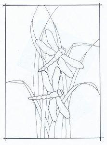 Dragonflies and Grass pattern by Carol Boyette