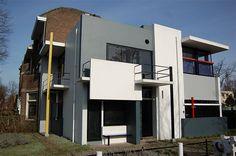 6 innovative houses between 1920-60:    House 2: The Schroder House, Utrecht, the Netherlands, 1923-24, by Gerrit Rietveld for Truus Schroder