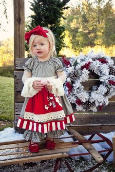 Persnickety Holiday Maitlyn Dress 12 Months to 12 YearsMatching Shoes, Headband, Knicker & Lace Top Available Too!