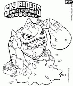 skylander eruptor a creature that throws fireballs and flames fire skylanders coloring page color
