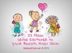 Vektörel Çizim | 23 Nisan Ulusal Egemenlik ve Çocuk Bayramı Kutlaması