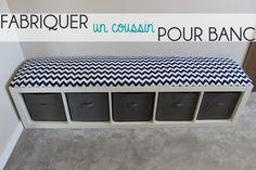 DEUX SOEURS | UN AGENDA: Fabriquer un coussin pour banc | DIY