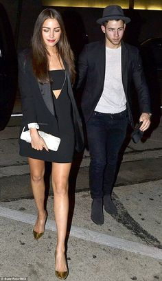 Date night: Nick Jonas took Olivia Culpo to Craig's restaurant for dinner in LA on Monday ...
