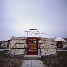 Mongolian Yurt. Xilinhot 锡林浩特, Inner Mongolia 内蒙古, China 中国 When we traveled outsite of the Xilihot city, we found a hotel complex that consisted of Mongolian Yurts. However since it wasn't tourist season, the whole place was completly deserted. Not a soul, just these Yurts.