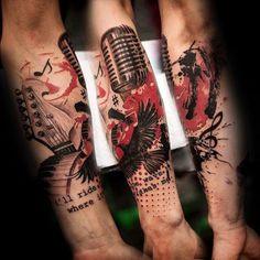 Tattoo Ideen Trash Polka  #ideen #polka #tattoo #tattooIdeen #trash