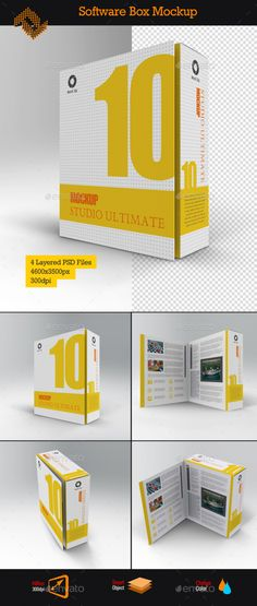 Software Book Style Box Mockup by Fusionhorn Features4 Layered PSD files Front and Top View Open and Close Boxes Studio Background 46003500px 300dpi Smart Objects For Product