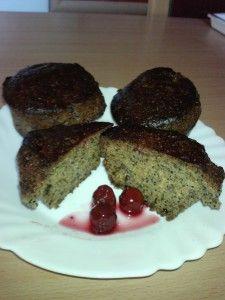 Mákos meggyes muffin recept - Gyümölcsös muffin Cherry Muffins, Sour Cherry, Cookie Do, Cookies Policy, Pudding, Desserts, Blog, Tailgate Desserts, Dessert