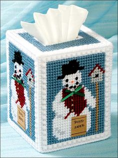 This bird-loving snowman is built of classic Continental stitches that will never melt!Skill Level: Beginner
