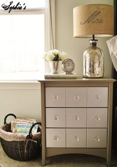 """Sophia's: House TourWall Color: Martha Stewart """"Spring Melt"""" Bed, Armoire: Craig's List Chandelier, Mantel, Chairs, Jewelry Frame: vintage finds Floral Canvas Art: IKEA Bedding: Tuesday Morning, TJ Maxx (White Duvet Cover - Overstock) Rug: Home Decorators Lamps: HomeGoods"""