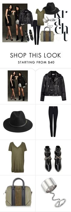 """""""The Edgy Casual Pear"""" by kallysantos on Polyvore featuring Topshop, HIDE, BeckSöndergaard, Giorgio Armani, River Island, Yves Saint Laurent, Givenchy and Elizabeth and James"""