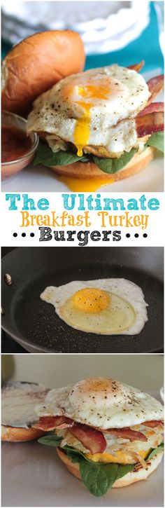 The Ultimate Breakfast Turkey Burgers! #burgers #recipe #egg