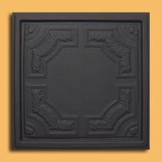 """24""""x24"""" Caracas Ceiling Tiles - PVC for Drop-in or Glue-up/Nail up Ceiling (Black) by Antique Ceilings. $6.85. Universal Installation - Drop in Grid system, Glue-on, Nail-on. High quality PVC matterial. Can be painted with most any water or latex based paints. Easy to cut. Tin like look from a modern material. PVC ceiling tiles come in 24""""x24"""" size. Feather-light, easy to install, easy to clean, stain resistant, water resistant, dust free, and easy to cut. They can be cut wit..."""