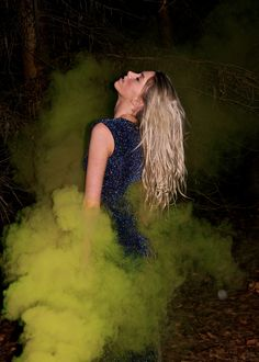 Photoshoot using coloured smoke grenades 24/02/2013 Model : Annie