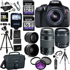 Canon EOS Rebel T6 DSLR Camera Kit New Model for T5 EFS 1855mm EF 75300mm Zoom Lenses Polaroid 43x Super Wide Angle 22X HD Telephoto Lens Canon Bag Tripods Memory Cards  Accessory Bundle * Be sure to check out this awesome product.Note:It is affiliate link to Amazon.