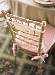 pink ribbon chair