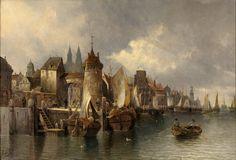 August von Siegen 1850 ? Medieval Port City Fantasy city Fantasy town Medieval