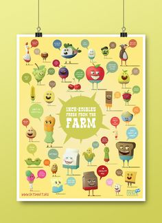 Food Cartoon Illustration Poster and workbook to be used in schools for nutrition education - Dan Hoffman on Behance