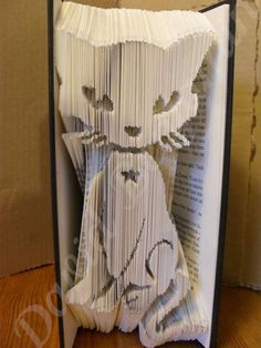 Create your own piece of stunning Book Art with this Cute Mystical Cat Combi Cut and Fold Book Folding Pattern. Cat Crafts, Book Crafts, Paper Crafts, Book Sculpture, Paper Sculptures, Cut And Fold Books, Middle School Art, High School, Book Folding Patterns