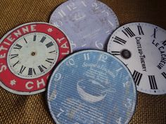 Clock Faces made from CDs!!!