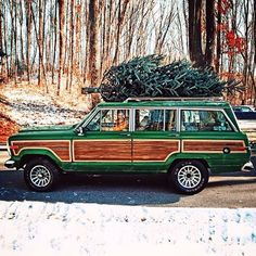 O Christmas tree O Christmas tree how lovely are your branches. Vintage Jeep, Vintage Pickup Trucks, Vintage Cars, Blue Jeep, Christmas Minis, Christmas Trees, Xmas, Christmas Ornaments, Woody Wagon