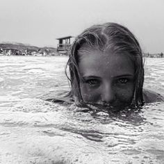 """Category:  """"Black and White"""" Submitted by Mackenzie Coleman, Springfield, MA """"Me in Ocean"""""""
