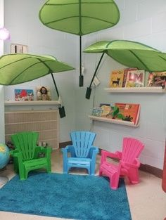 Leaf canopy for a reading corner!