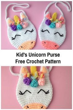 Kid's Unicorn Purse Free Crochet Pattern