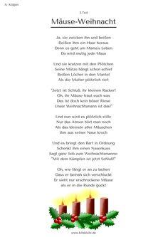"""""""Mäuse-Weihnacht"""" - Weihnachtsgeschichte in 24 Strophen - eBook für 1,99€ zum Download: www.kitakiste.jimdo .com"""
