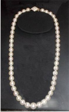 The Boss's String of Pearls - Mikimoto's hand-picked pearls - 49 graduated large pearls -largest is 14 mm