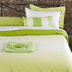 Saraille Lime - Dip Dye Modern Bedlinen   Designers Guild UK