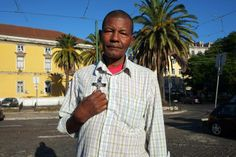 """My name is José Reis and I'm from Cape Verde. I always carry this crucifix to protect me."""